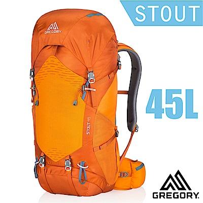 【美國 GREGORY】新款 STOUT 45 專業健行登山背包_橘色草原