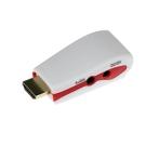 迷你HDMI轉VGA影音轉接器(白色)
