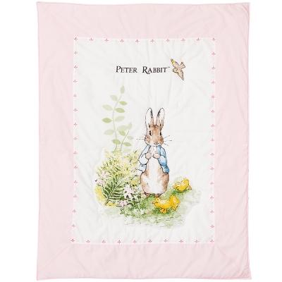 奇哥 花園比得兔二用夏被-粉紅