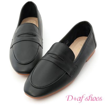 D+AF 好感印象.經典款超軟平底樂福鞋*黑