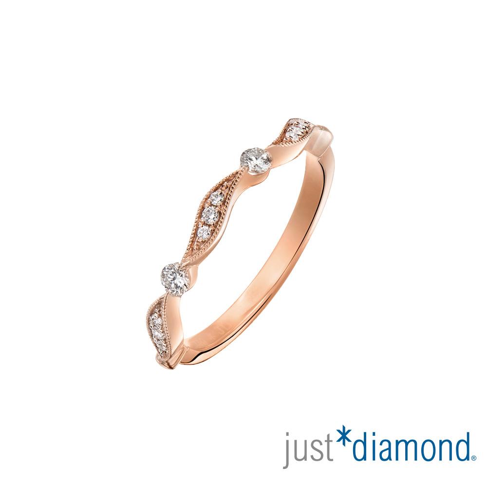 Just Diamond 玫瑰金 鑽石戒指-Dancing Leaf