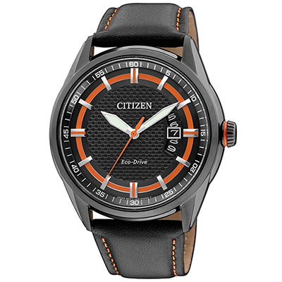 CITIZEN Eco-Drive嚴選時尚商務腕錶(AW1184-13E)-黑/42mm
