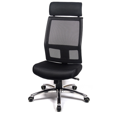 aaronation 愛倫國度 - 舒適頭枕透氣網背金屬座電腦椅三色