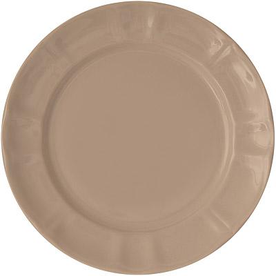 EXCELSA Chic陶製淺餐盤(淺棕22cm)