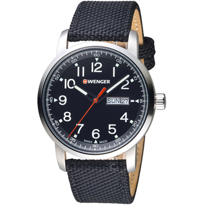 瑞士WENGER Attitude態度系列簡單生活時尚腕錶(01.1541.105)
