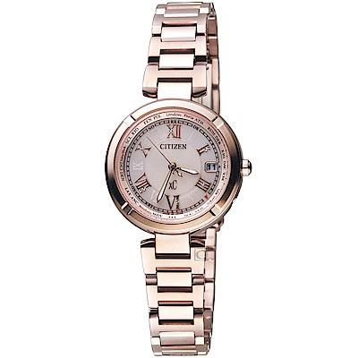 CITIZEN星辰xC系列愛戀羅馬電波鈦金屬腕錶(EC1115-59W)
