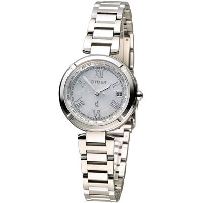 CITIZEN 星辰 xC系列【鈦】幸運時刻電波腕錶(EC1110-52A)-銀/28mm
