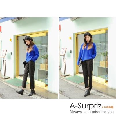 A-Surpriz 都會英倫條紋貝蕾帽(黑)