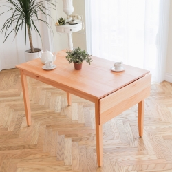 CiS自然行實木家具-單邊實木延伸桌74~142cm(溫暖柚木色)