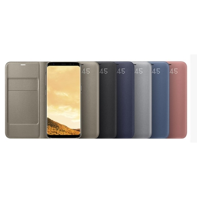 SAMSUNG Galaxy S8+ LED 皮革翻頁式皮套