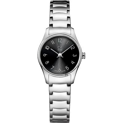 Calvin Klein CK Classic 極簡經典女錶-銀/24mm