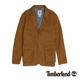Timberland 男款黃褐色雙層口袋長袖