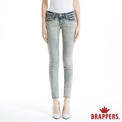 BRAPPERS 女款 新美腳Royal系列-彈性合身顯瘦窄管褲-復古藍