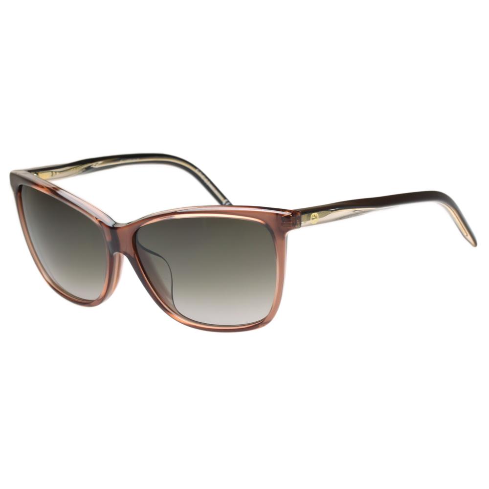 GUCCI-時尚太陽眼鏡(透明咖啡) @ Y!購物