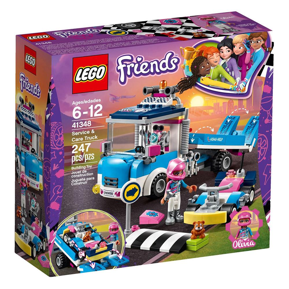 LEGO樂高Friends系列41348賽車場維修車