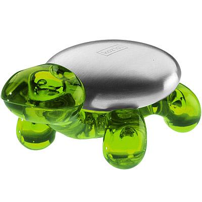KOZIOL Ama去味皂+烏龜座(透綠)