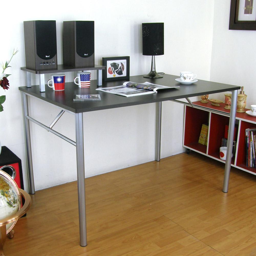 頂堅(桌面80x120cm)書桌(附桌上架48cm/二色)