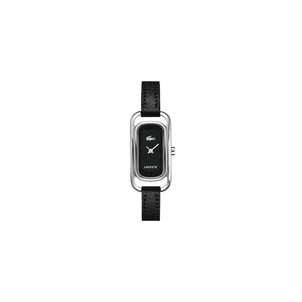 Lacoste 完美佳人時尚女錶-黑/20mm