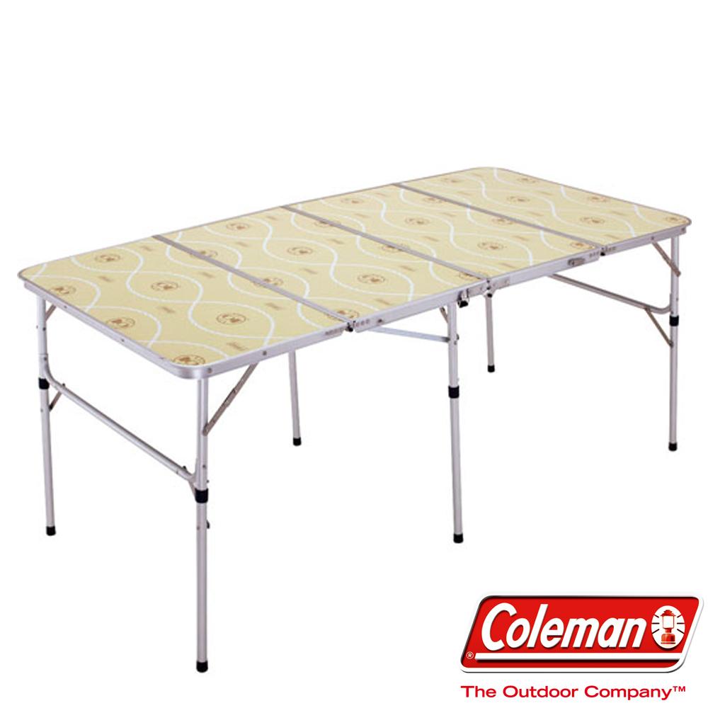 Coleman 7587 薄型四摺桌 兩段式調整高度 薄型設計好攜帶(公司貨)