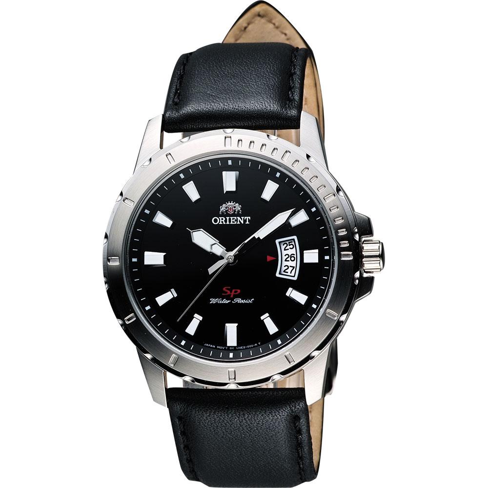 ORIENT SP極速運動石英腕錶-黑/41mm