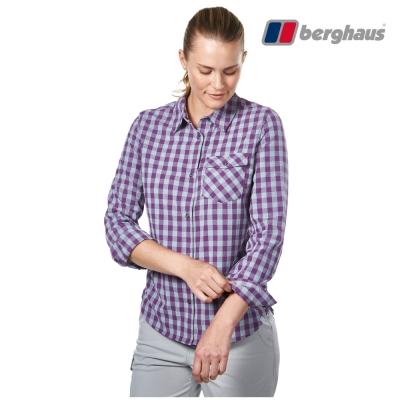 【Berghaus貝豪斯】女款銀離子抗菌除臭抗UV長袖襯衫S05F47紫