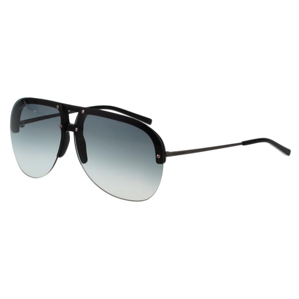 YSL-時尚太陽眼鏡(黑色+淺鏡片)