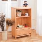CiS自然行-日系雜貨原木書櫃(溫暖柚木色) 64x33x103cm