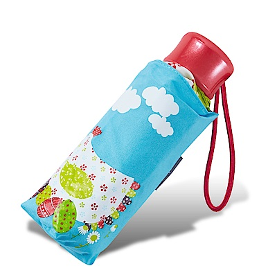 RAINSTORY花漾雞(藍)抗UV迷你口袋傘