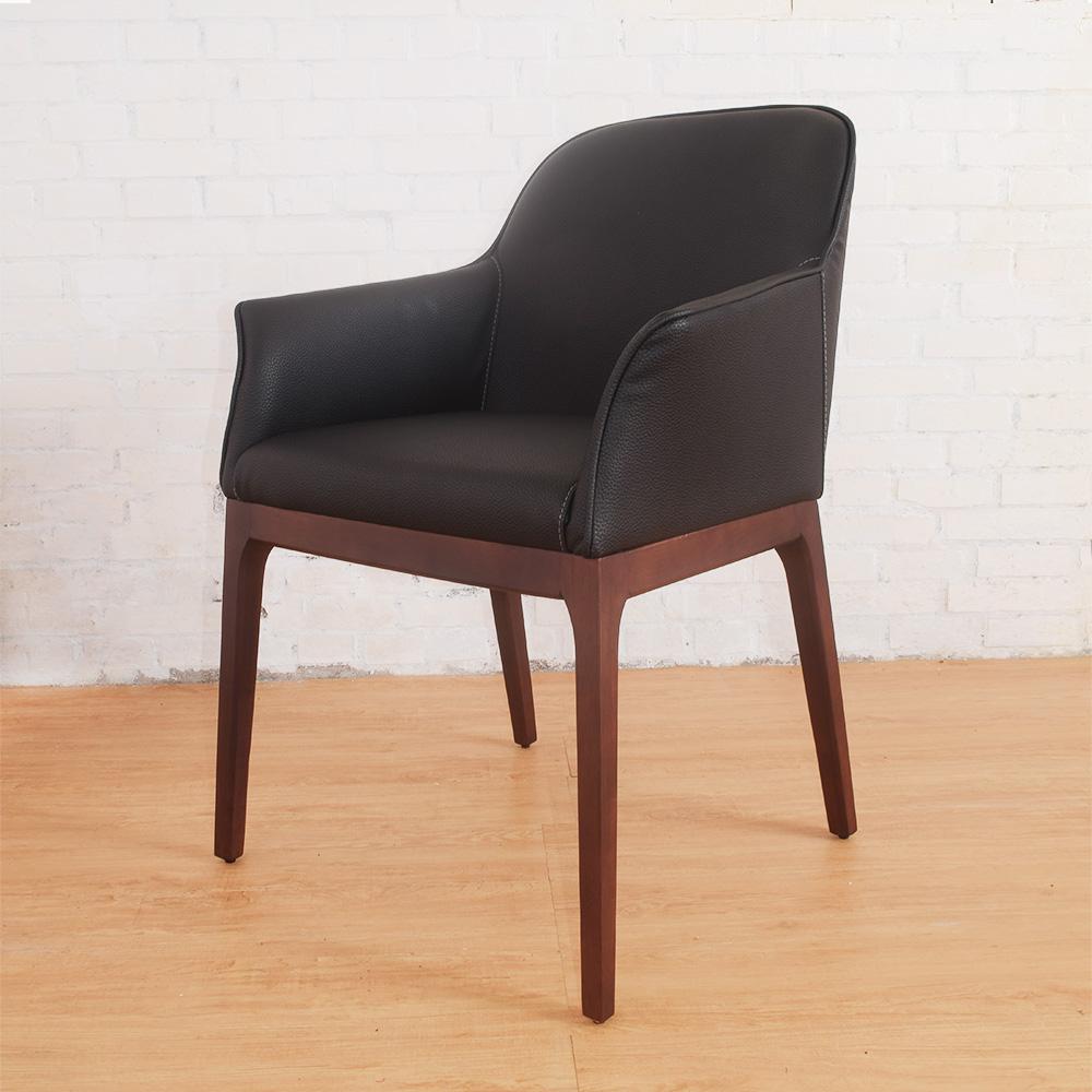 Bernice-德爾實木餐椅(二入組合)-55x51x85cm