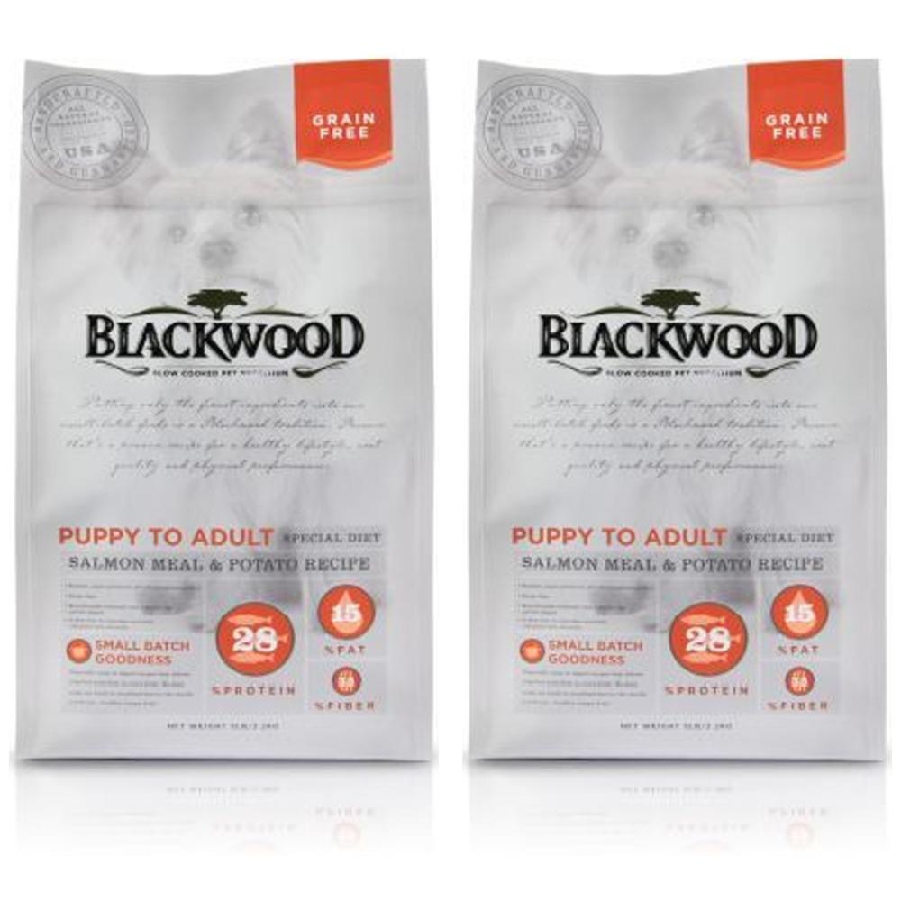 BlackWood 柏萊富低敏挑嘴(鮭魚+馬鈴薯)無榖全齡犬糧 5磅 2包