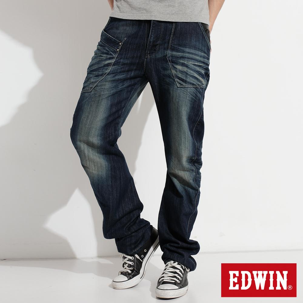 EDWIN  E-FUNCTION 窄直筒牛仔褲-男款(中古藍)