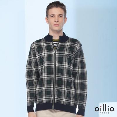 歐洲貴族oillio-薄外套-羊毛保暖-細膩格紋