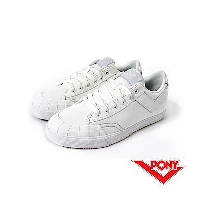 【PONY】Slam Dunk  系列-經典復古鞋-女性-白