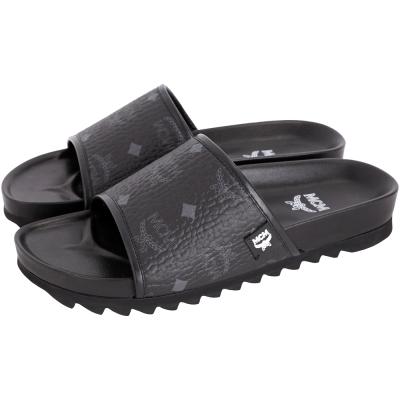 MCM Visetos Slides 經典圖騰涼拖鞋(男款/黑色)