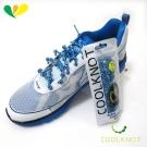 COOL KNOT 豆豆免綁彈性鞋帶(天藍白)(75cm) CK15-10