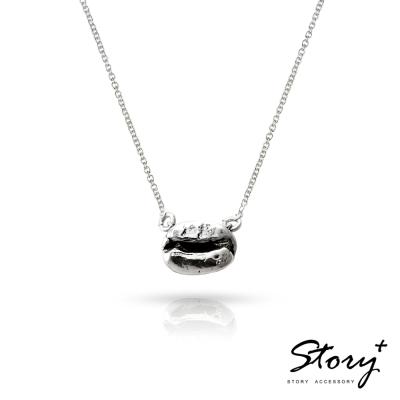 STORY故事銀飾-愛上哥們-情定咖啡豆-純銀項鍊