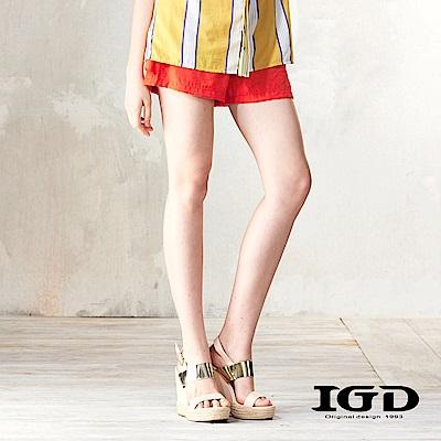 IGD英格麗 荷葉飾邊造型短褲