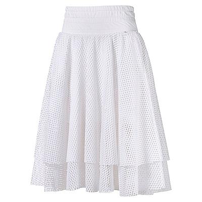PUMA-女性流行系列芭蕾風及膝短裙-白色-亞規