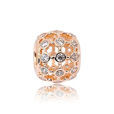 Pandora 潘朵拉 玫瑰金鑲鋯聚光 純銀墜飾 串珠