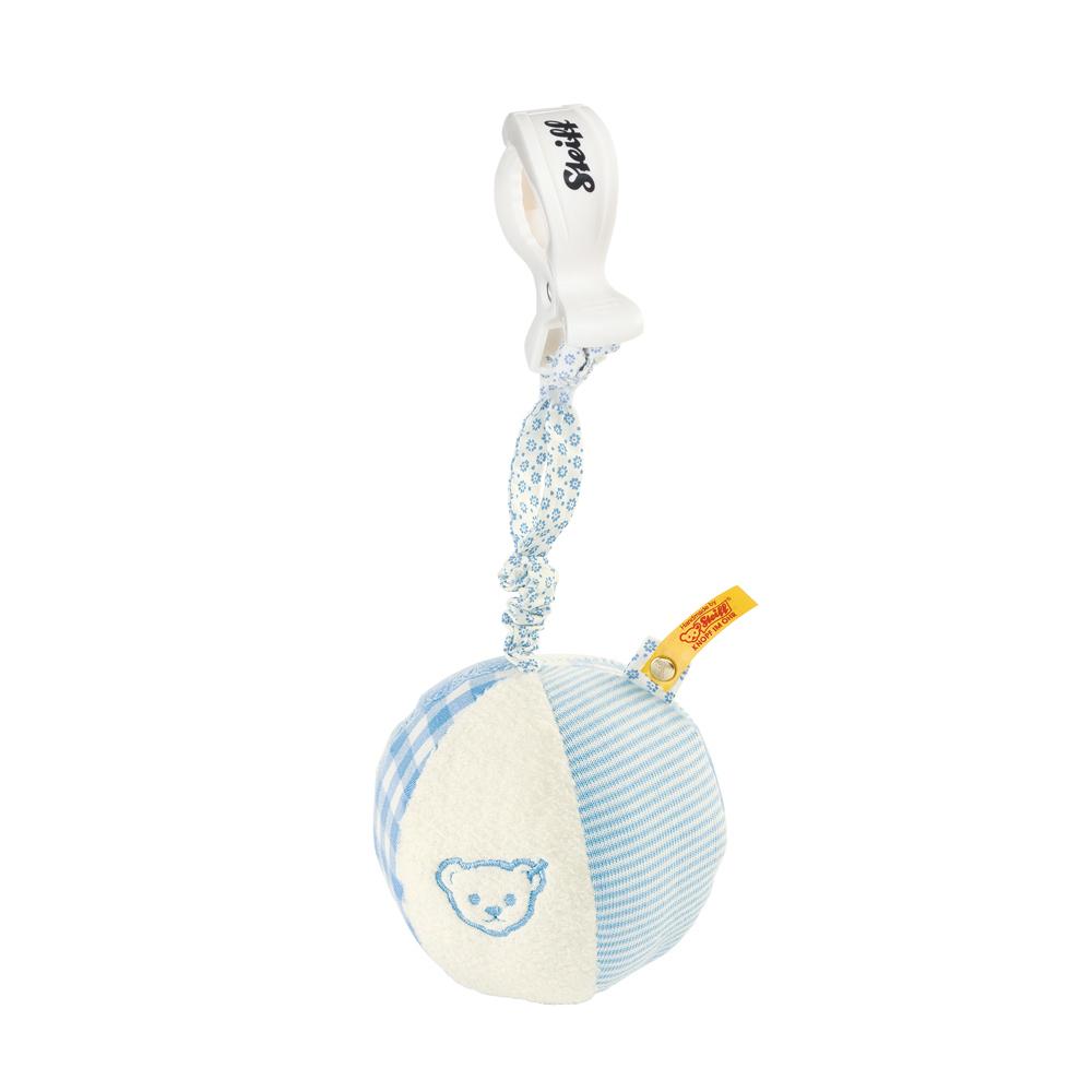 STEIFF德國金耳釦泰迪熊 - Rattle Ball Blue 球球 (嬰幼兒手搖鈴)