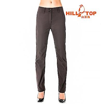 【hilltop山頂鳥】女款吸濕排汗抗UV彈性長褲S07FF9-灰