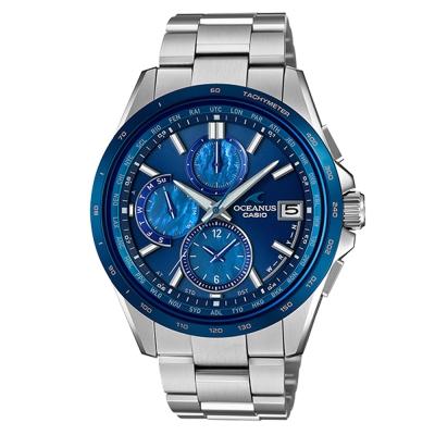 OCEANUS蔚藍綻放輕薄美型碳鈦化技術電波錶(OCW-T 2610 F- 2 )藍IP/ 48 mm