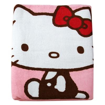 Sanrio三麗鷗授權Hello Kitty凱蒂貓系列-凱蒂貓愛紅蘋果小浴巾