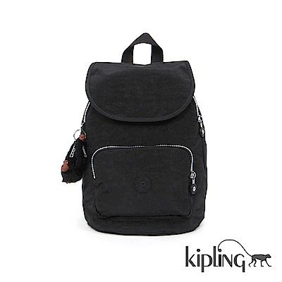 Kipling 後背包 柏油黑素面-大