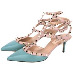 VALENTINO ROCKSTUD ANKLE STRAP鉚釘繫帶高跟鞋(綠)