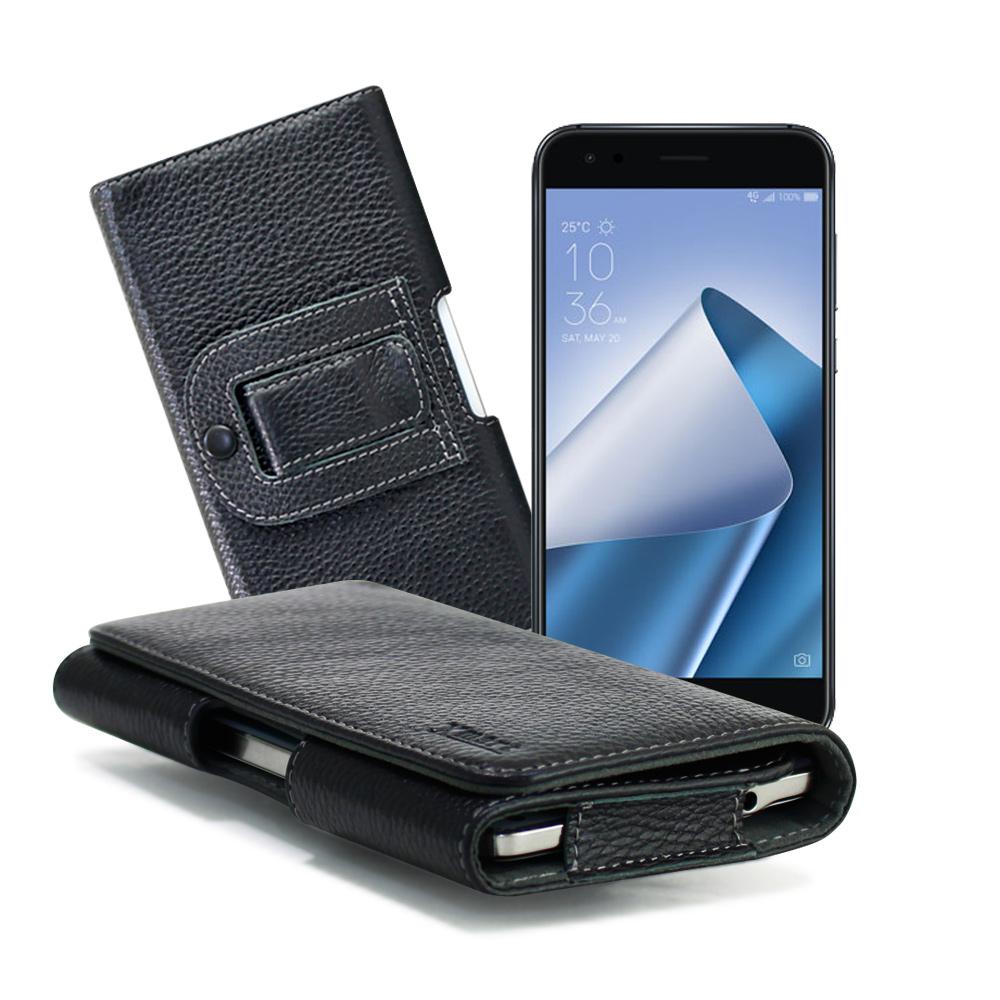 XM ZenFone 4 ZE554KL/Pro ZS551KL 麗緻真皮腰掛皮套