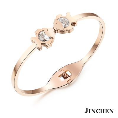 JINCHEN 白鋼雙魚KISS手環
