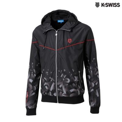 K-Swiss Gradient Windbreaker風衣外套-男-黑