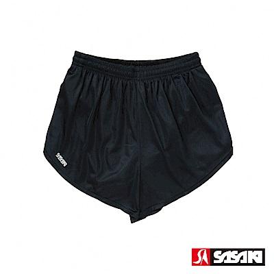 SASAKI 吸濕排汗專業田徑短褲-女-黑