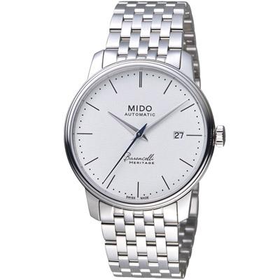 MIDO美度錶 BARONCELLI 永恆系列III簡約時尚腕錶 -白/39mm